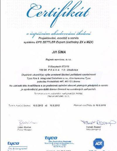 Certifikát ZETTLER