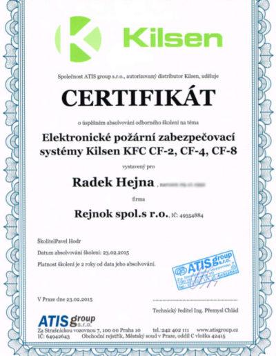 Certifikát Kilsen - EPS